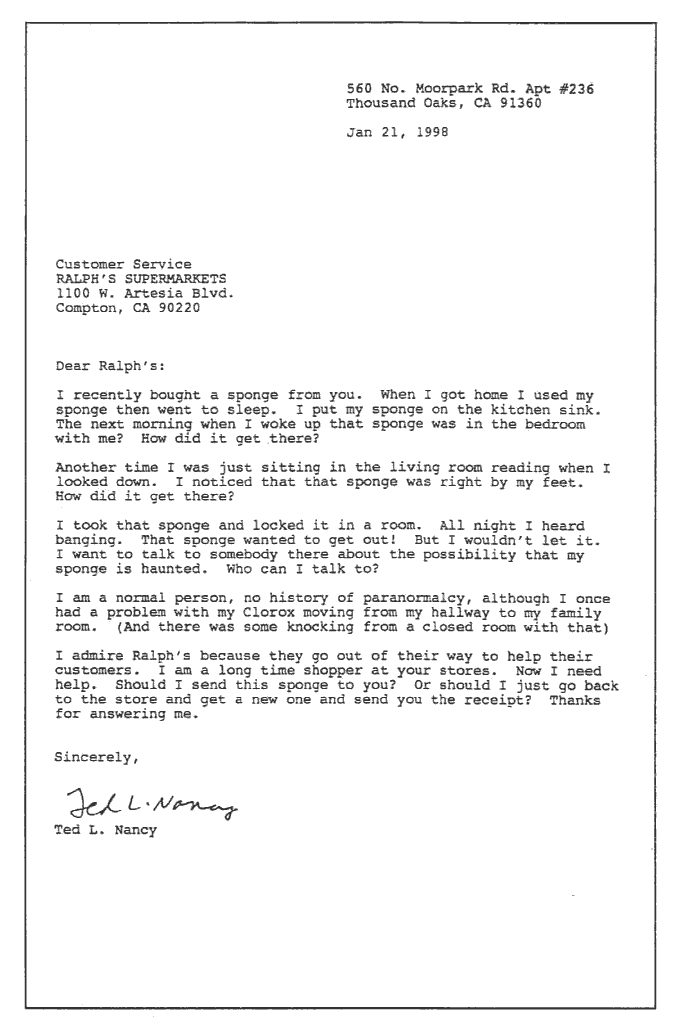 Ted L. Nancy - Classic Letters From a Nut - Sponge